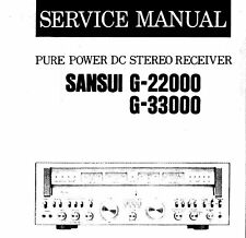 SANSUI G-22000 G-33000 PURE POWER DC ST RECEIVER SERVICE MANUAL INC SCHEMS ENG