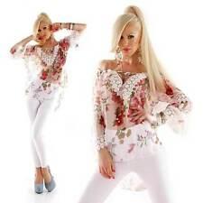 Taillenlange 3/4 Arm Damenblusen, - Tops & -Shirts in Größe 36