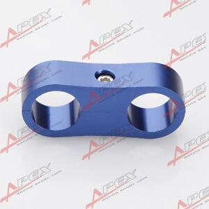 -3AN AN3 3AN ID 9.5mm Billet Fuel Blue Hose Separator Fittings Adapter