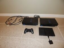 Sony PlayStation 2 PS2 Lot of 3 Consoles Slim 1 Controller 21 Games Grand Theft