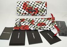 NEW AUTH D&G DOLCE & GABBANA SUNGLASSES CASE (CLUTCH) w/POUCH, CLEANING CLOTH