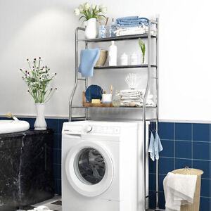 3 Ablage Badregal Toilettenregal Waschmaschinenregal Badzimmer WC Stand Regal