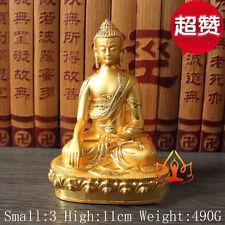 Tibet Tibetan Buddha Buddhist Alloy Gild Sakyamuni Shakyamuni Buddha Statue
