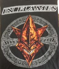 In Flames T Shirt Large Black T Shirt Swedish Heavy Metal Jester Head