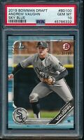 PSA 10 ANDREW VAUGHN 1st 2019 Bowman Draft Paper SKY BLUE #/499 RC GEM MINT