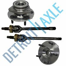 4 pc Set: Dodge Ram 1500 1994-1999 - 2 U JOINT  Axle + 2 Wheel Hub Bearing; 4X4