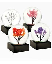 "Four Seasons Nature Inspired Miniature Zen Snow Globes Set Of 4 Each Globe 2.5"""