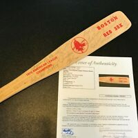 1975 Boston Red Sox AL Champs Team Signed Mini Baseball Bat JSA COA Auto