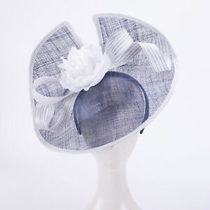 Women Kentucky Derby Sinamay Fascinator Wedding Church Racing Hat Headpiece T426