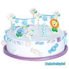 Torten-Dekoset 1. GEBURTSTAG JUNGE, 10-teilig für Geburtstags-Kuchen, Muffins