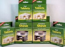 2-SURVIVAL EMERGENCY STOVES W/ 144 HEXAMINE ESBIT FUEL TABLETS KEEP WARM COOK