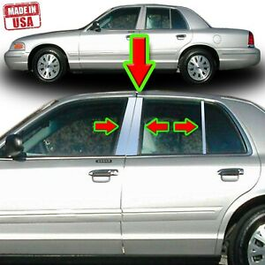 Chrome Pillar Trim for Ford Crown Victoria & Mercury Grand Marquis 98-08 6pc