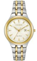 Citizen Eco-Drive Women's EW2494-54A Corso White Dial Two-Tone 32mm Watch