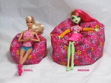 Medium Doll bean bag beanbag chair fits most baby dolls Pink Peace Sign