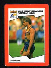 1989 SCANLENS FOOTBALL CARD - CHRIS MAINWARING WEST COAST EAGLES #53 (MINT)