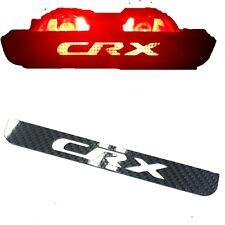 CARBON FIBER 3rd Brake Light Logo Panel Overlay Plate USDM for 88-91 Honda CRX