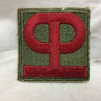Vtg Military Patch Army 90th Infantry Division Insignia White Back Variant 90