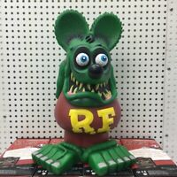 RARE New Rat Fink RF Fire Flame Retrod Hot Rod Garage Retro NEON SIGN BEER LIGHT