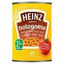HEINZ Spaghetti Bolognese 400g x 6 Large Tins Cans BULK BUY UK STOCK WHOLESALE