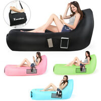 Thick Inflatable Air Sofa Bed Lazy Sleeping Camping Bag Beach Chair Couch Airbed