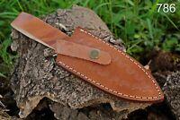 Custom Hand Made Pure Leather Sheath For Fixed Blade Knife - Q 786