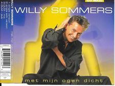WILLY SOMMERS - Met mijn ogen dicht CDM 4TR Europop Eurodance 1996 Belgium