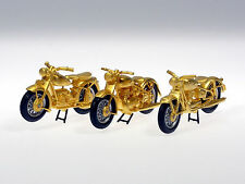 Schuco Piccolo Weihnachtsset 2000 3 x Motorrad vergoldet 800 ltd. # 50171006