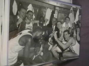 1960s Boston Celtics Basketball Original Brearley 11x14 Celebration Photo