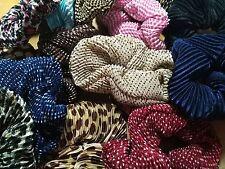 24 pcs/2 dz ribbed textured elastic hair ties various colors designs random pick