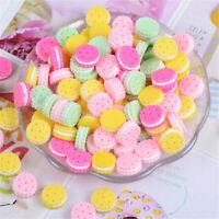 Random 30 pcs Mini Resin Sandwich Biscuits Food Craft Jewelry Charm Slime 15x7mm