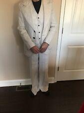 Vtg 1970s 3 piece Leisure Suit Mens 42 Long Pants 32wx33L Vest