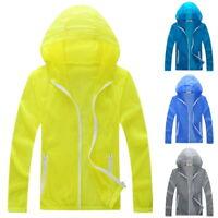 Unisex Outdoor Sport Jacket Quick Dry Hiking Jacket Waterproof Sunproof Coat NEW