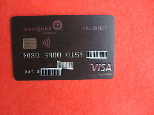 VINTAGE OLD CREDIT CARD: AMERIPRISE FINANCIAL VISA CREDIT CARD
