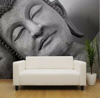 Face of budda statue, Black and white photo Wallpaper wall mural (9055968)