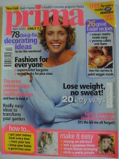 Prima Magazine April 2003. Give an old chest of drawers a new look. Knit a throw