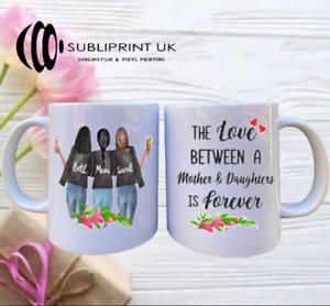 Mum Personalised Mug - Mum & Daughter - Three Person