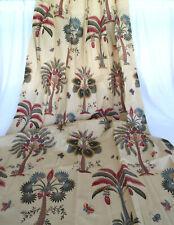 Fabulous JC Penney Home Cotton Curtain Panels 2 Sets (4 PC) Jacobean Tree