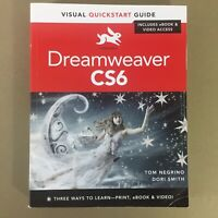 Dreamweaver CS6 book Visual Quickstart Guide web programming design development