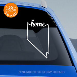 """Nevada State """"Home"""" Decal - NV Home Car Vinyl Sticker - add heart to a city!"""