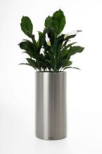 "Pflanzkübel Blumenkübel ""Estra"" aus Edelstahl 70 cm hoch, Gebürstet"