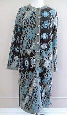 Soft Surroundings cardigan sweater coat SW Indian prt cotton blend knit S Ladies