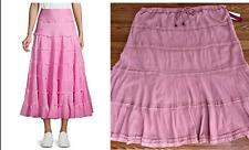 NWT Mix Nouveau Womens Plus A-line Lined Skirt 100% Cotton Pink Size 3X