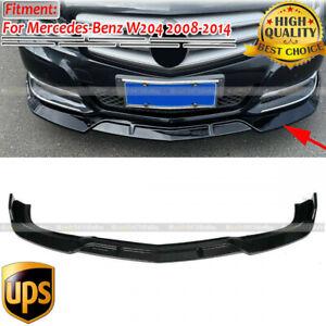 Gloss Black Front Bumper Lip Splitter Spoiler For Mercedes W204 C250 C300 08-14