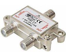 2-fach transmedia sat verteiler splitter digital tauglich 3 x f-buchse kupplung