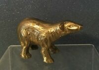 Vintage  Brass Polar Bear, Brass Bear, Solid Brass Sculpture