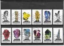 FRANCE 2016.LE MONDE MINERAL.SERIE COMPLETE DE 12 TIMBRES AA OBLITERES