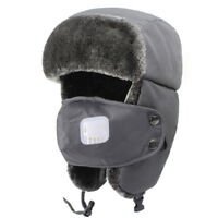 2018 New Breathing Men Women Kids Winter Wool Ski Ushanka Trapper Aviator Hats