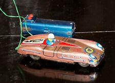 Jaguar Race Car * Vintage Tin Litho * Asc Japan * Battery Operated Works!