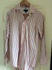 Mens Boden Pink Stripe Shirt Size 15 Collar