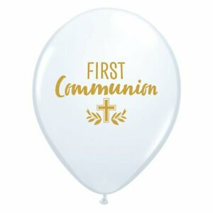 """FIRST HOLY COMMUNION BALLOONS - Choose amount - QUALATEX PARTY DECORATIONS 11"""""""